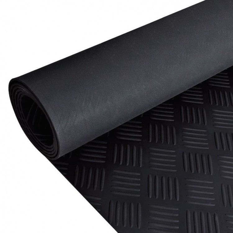 Rubber Floor Mat Anti Slip Checker Plate Rug Floor Doormat Office Carpet Black Ebay Rubber Flooring Rubber Floor Mats Floor Mats