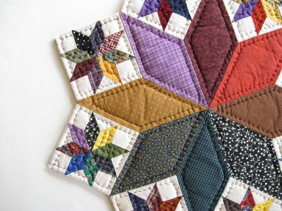 Table Top Quilt Quilted Table Topper Quilted Candle Mat