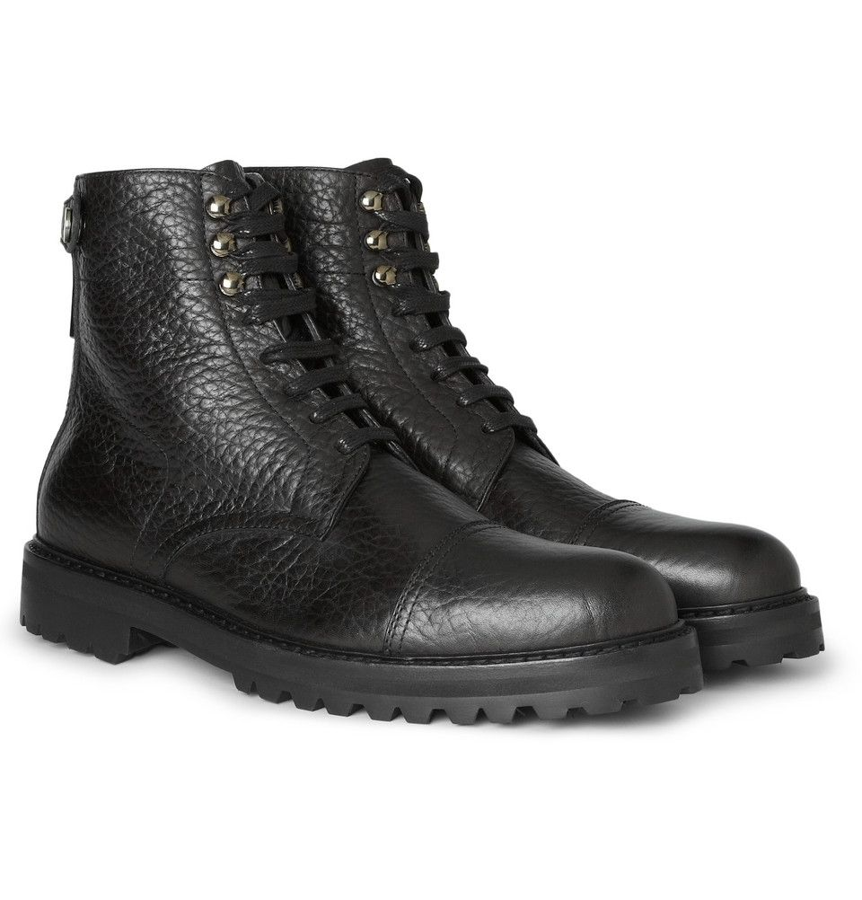 3c849ffd4f5 Belstaff Barrington Textured-Leather Boots | MR PORTER | SHOES ...