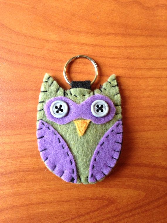 Owl Felt Keychain on Etsy, $5.00