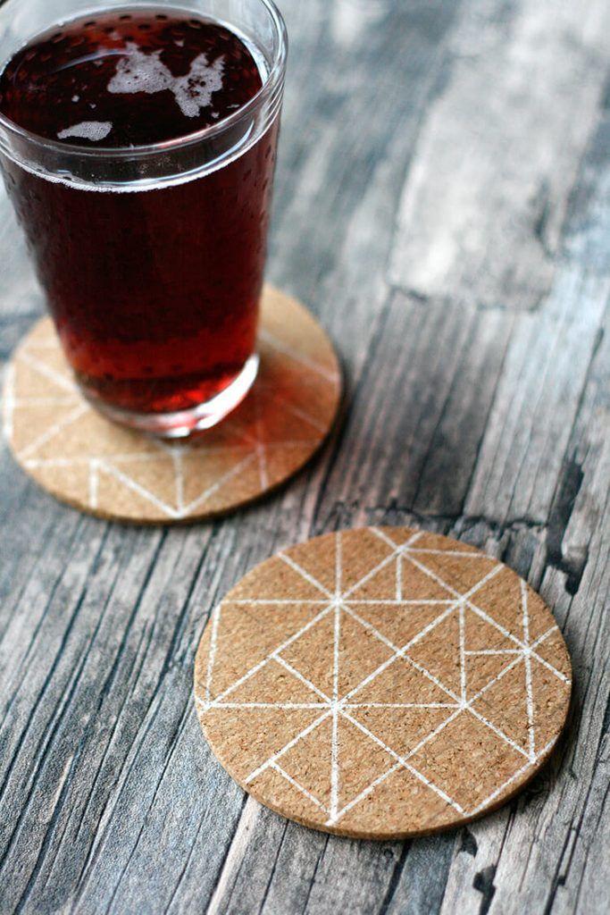 Scandinavian-Inspired Cork Coasters | Fun Family Crafts