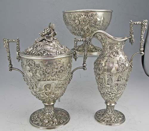 Juego de plata esterlina antiguo