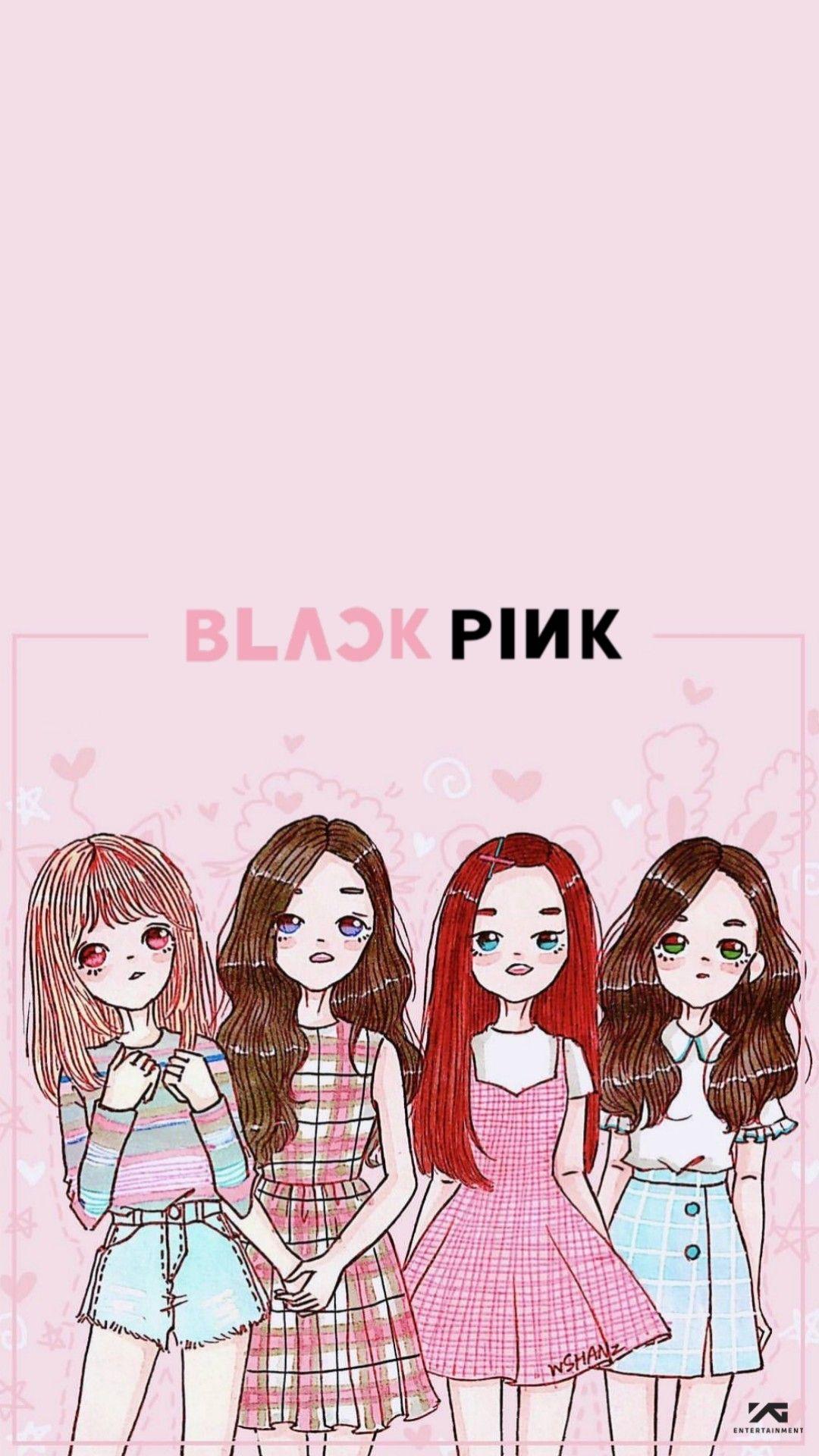 Blackpink Wallpaper Blackpink Wallpaper Hd Cute Colorful Lisa Rose Jisoo Jennie Fanart Chibi Serigrafi Sevimli Karikatur Doodle Desenleri