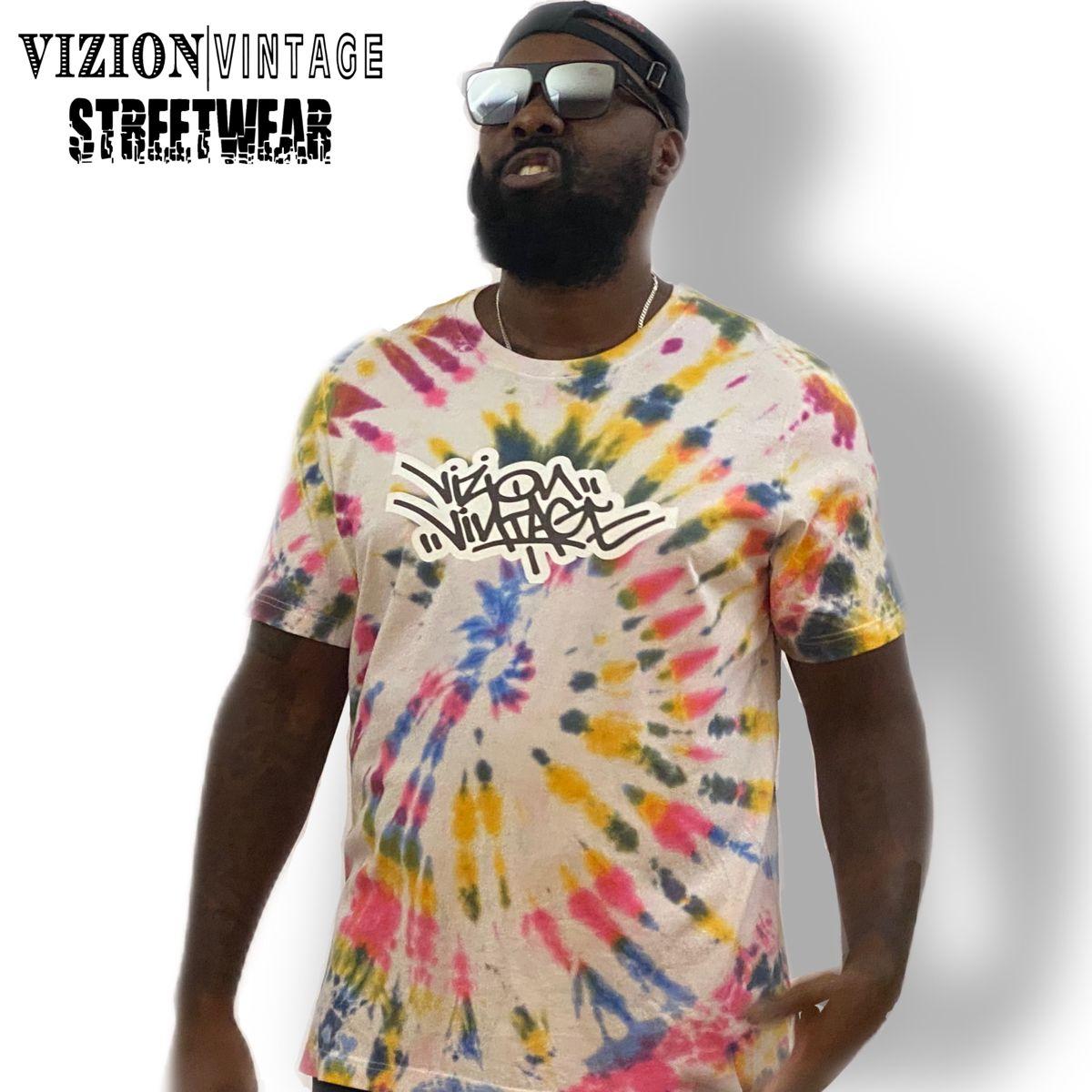 Vizion Vintage Street Wear Tie Dye T Shirts Clothing Brand Street Wear [ 1200 x 1200 Pixel ]