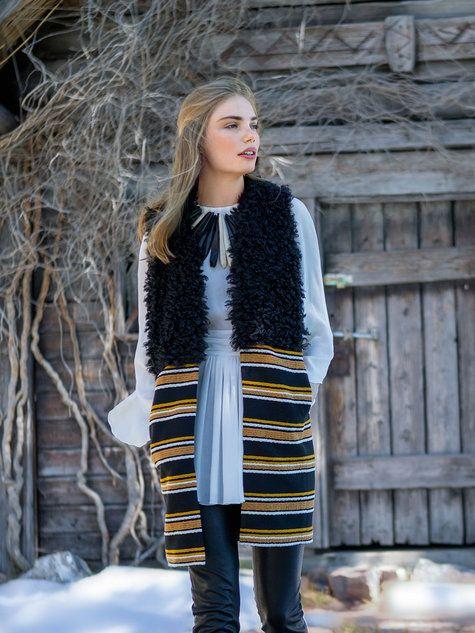 Long Faux Fur Waistcoat 11/2016 #114