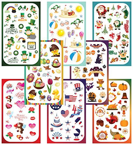 Koobar yearround holiday stickers variety pack fun assortment of designs for a whole year 400 stickers