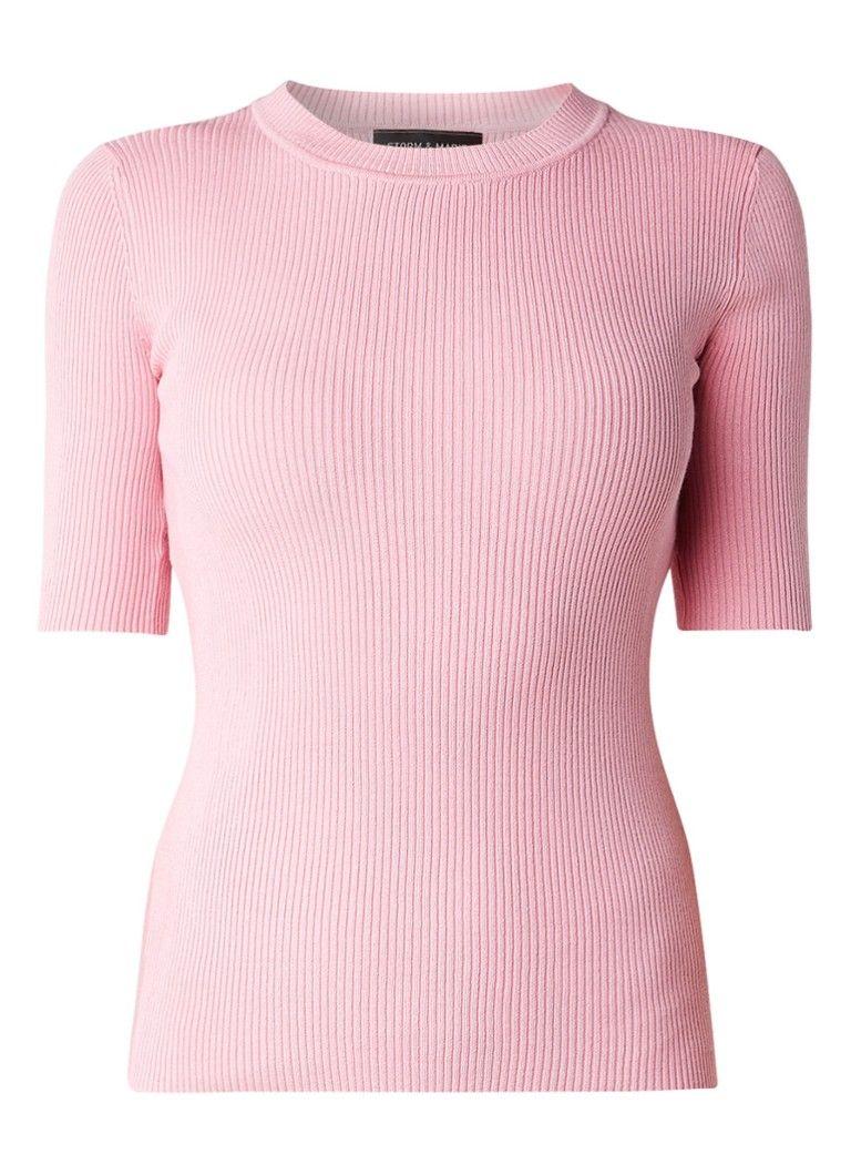 Op zoek naar Storm & Marie Ribgebreide pullover met halflange mouw ? Ma t/m za voor 22.00 uur besteld, morgen in huis door PostNL.Gratis retourneren.