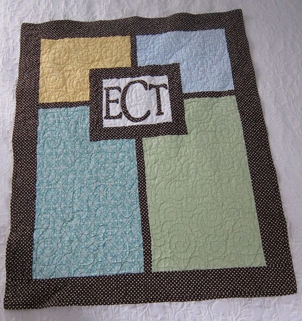 Love the simplicity - Maybe embroider the letters?