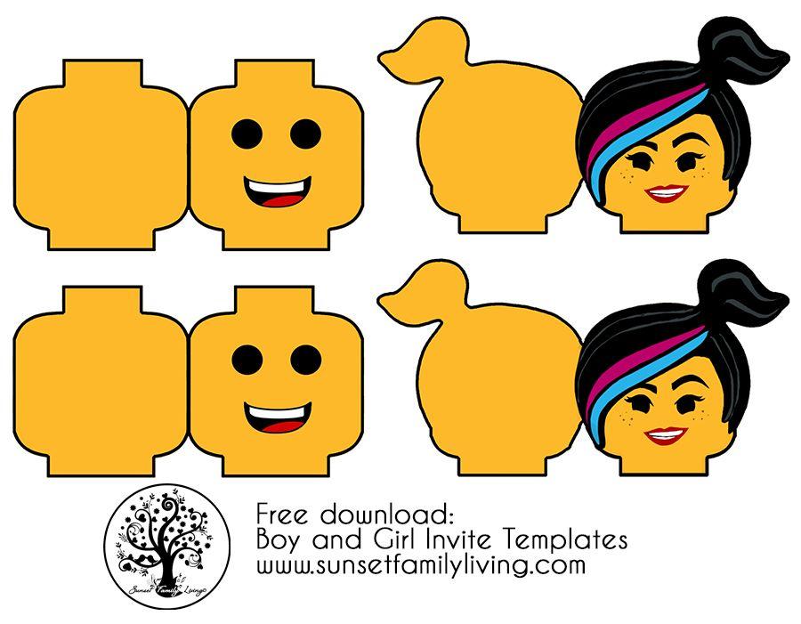 invite downloads cumple lego lego geburtstagsparty. Black Bedroom Furniture Sets. Home Design Ideas