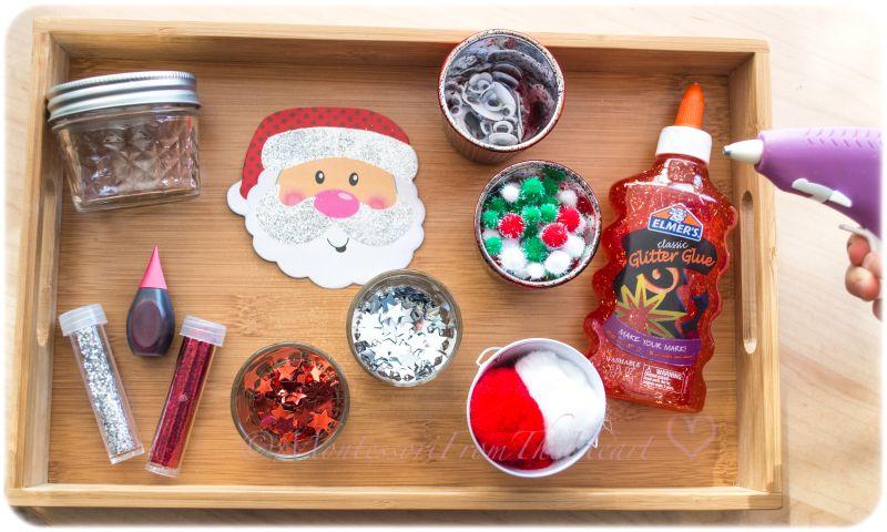 Santa Red Slime Diy Jar Science 101 Series Science For Kids Diy For Kids Red Slime