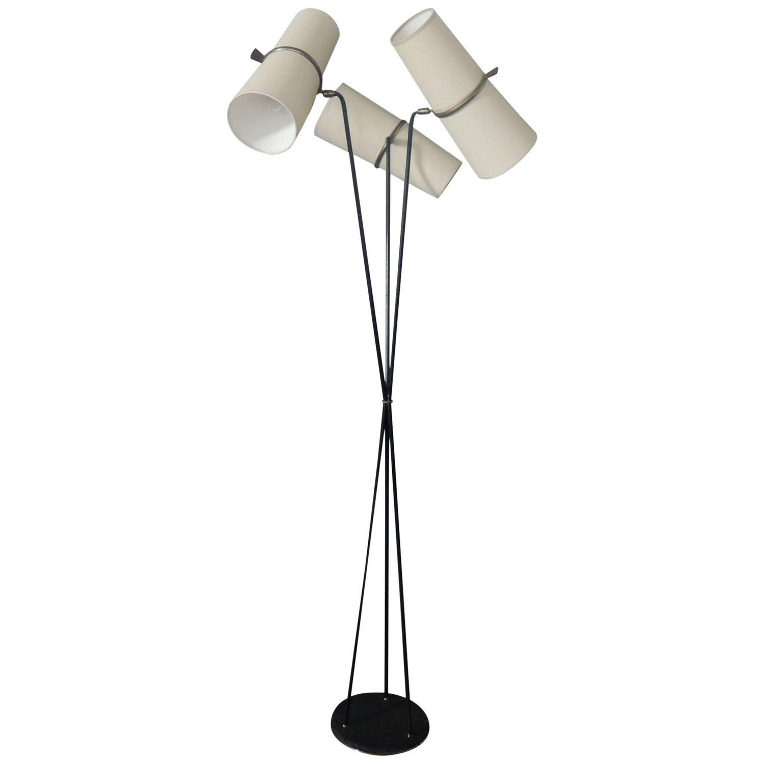 Fine French 1950s Three Stem Floor Lamp By Maison Lunel Floor Lamp Lamp Lunel