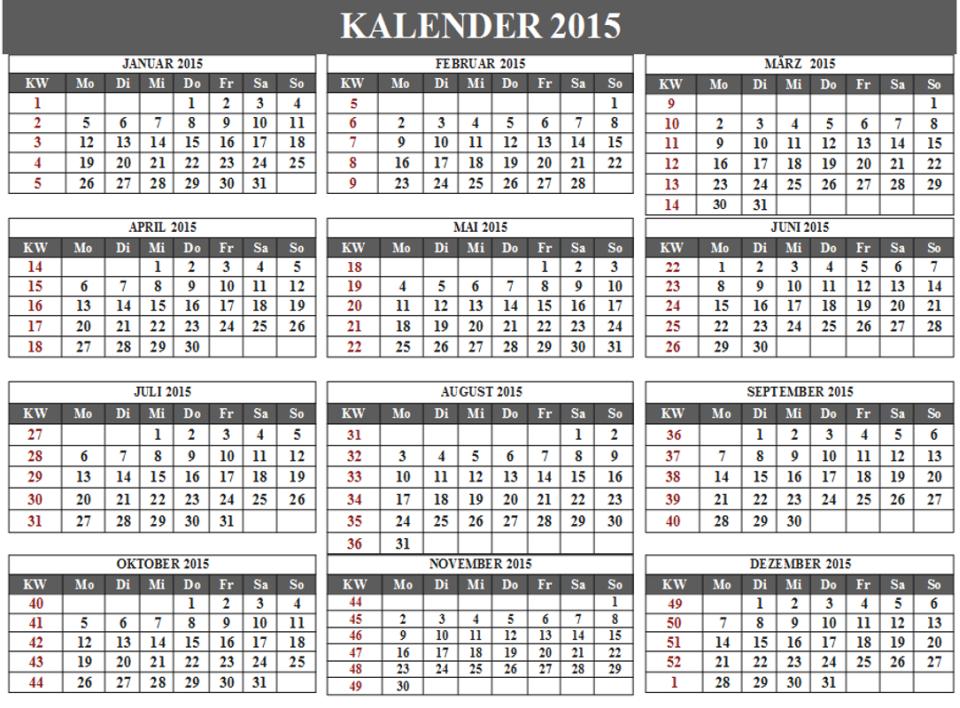 Gemütlich 2015 Monatliche Kalendervorlage Fotos ...