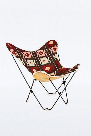 housse a motif geometrique pour chaise papillon
