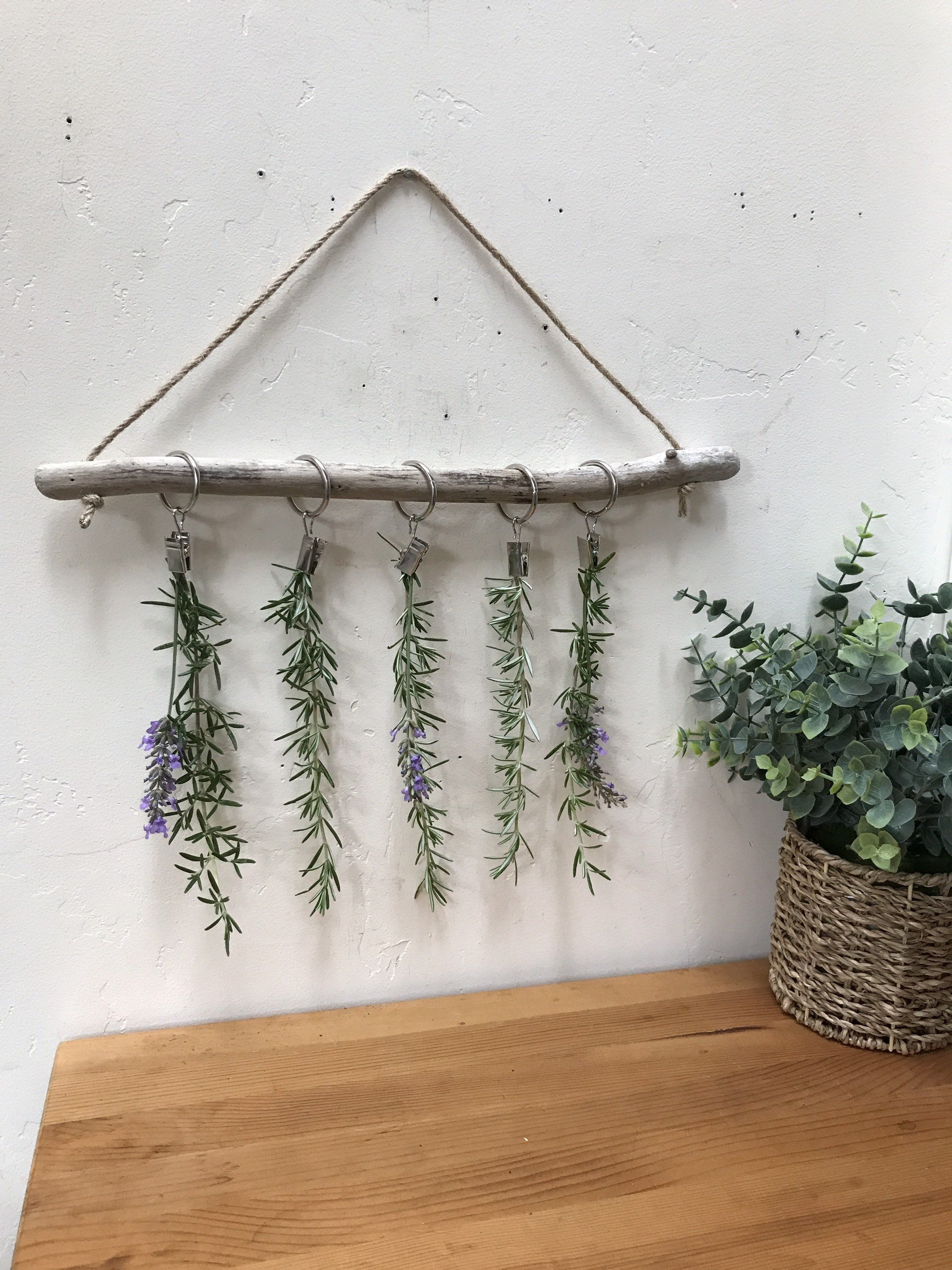 pin on driftwood dried flowers or herbs rack pinterest