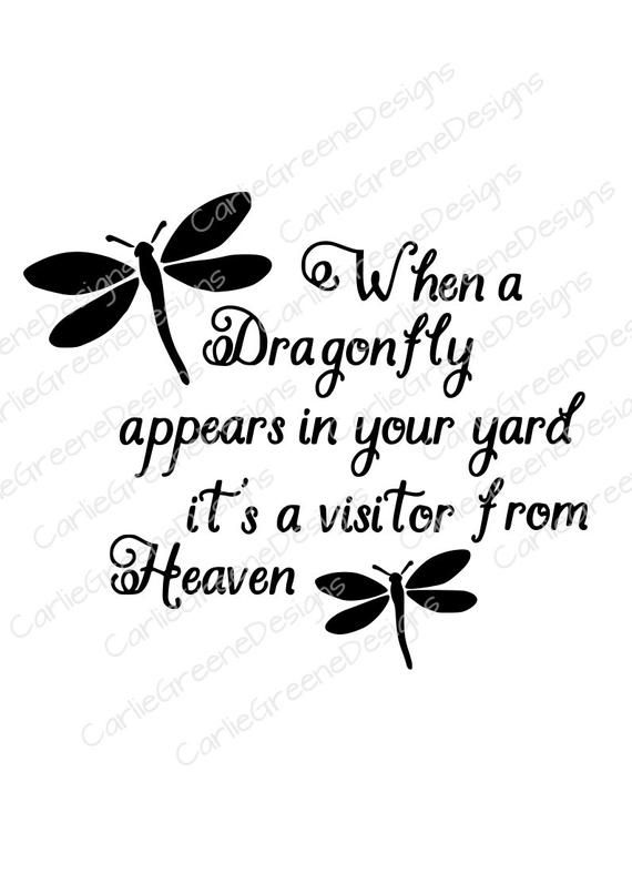 Download When a Dragonfly Appears SVG File | Etsy in 2020 | Grief ...