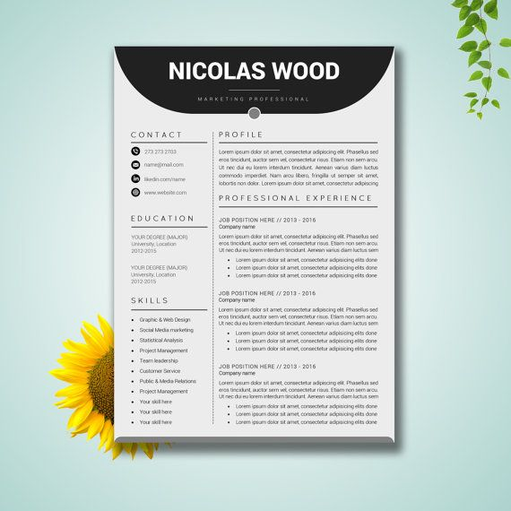 Resume Template Word CV Template Cover Letter Paper Letter - credit card template word