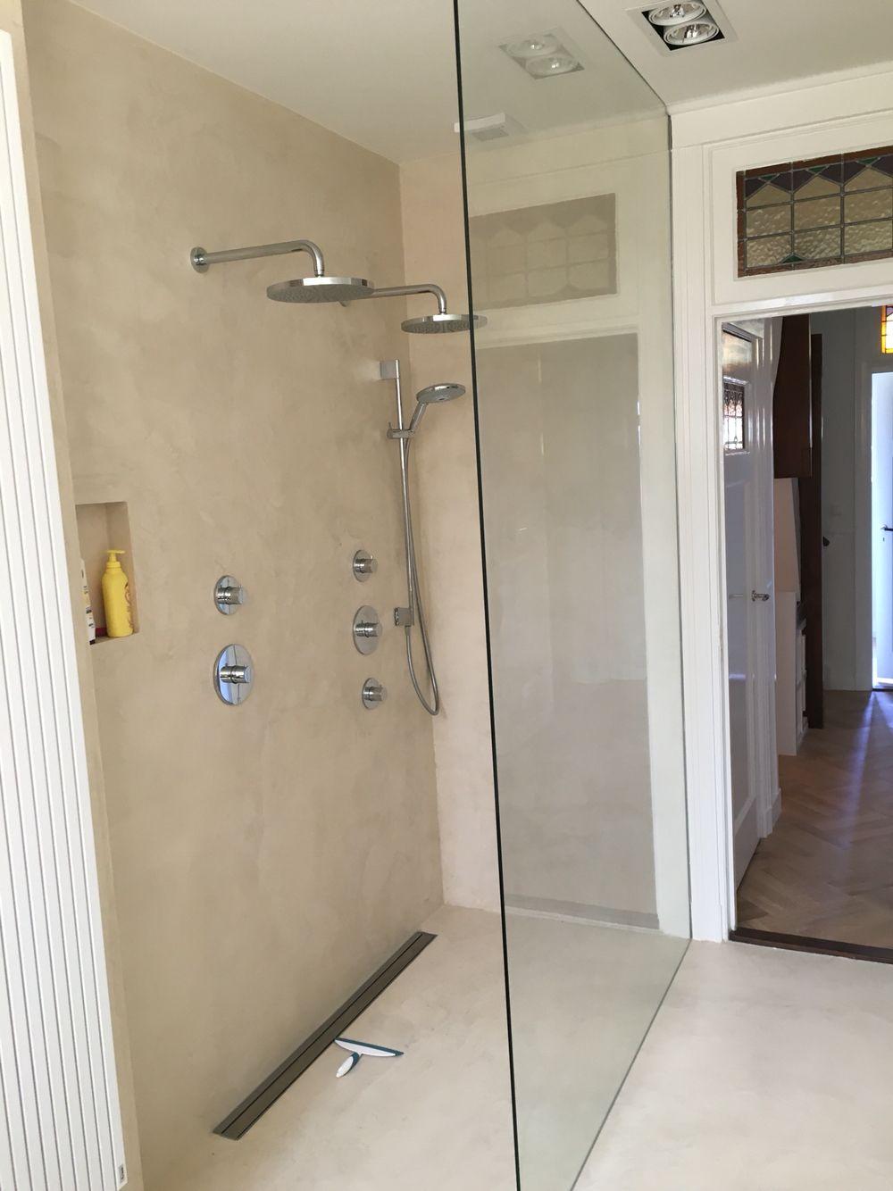 Badkamer beton stuc door Sens bouw Stuc deco | Bathroom | Pinterest
