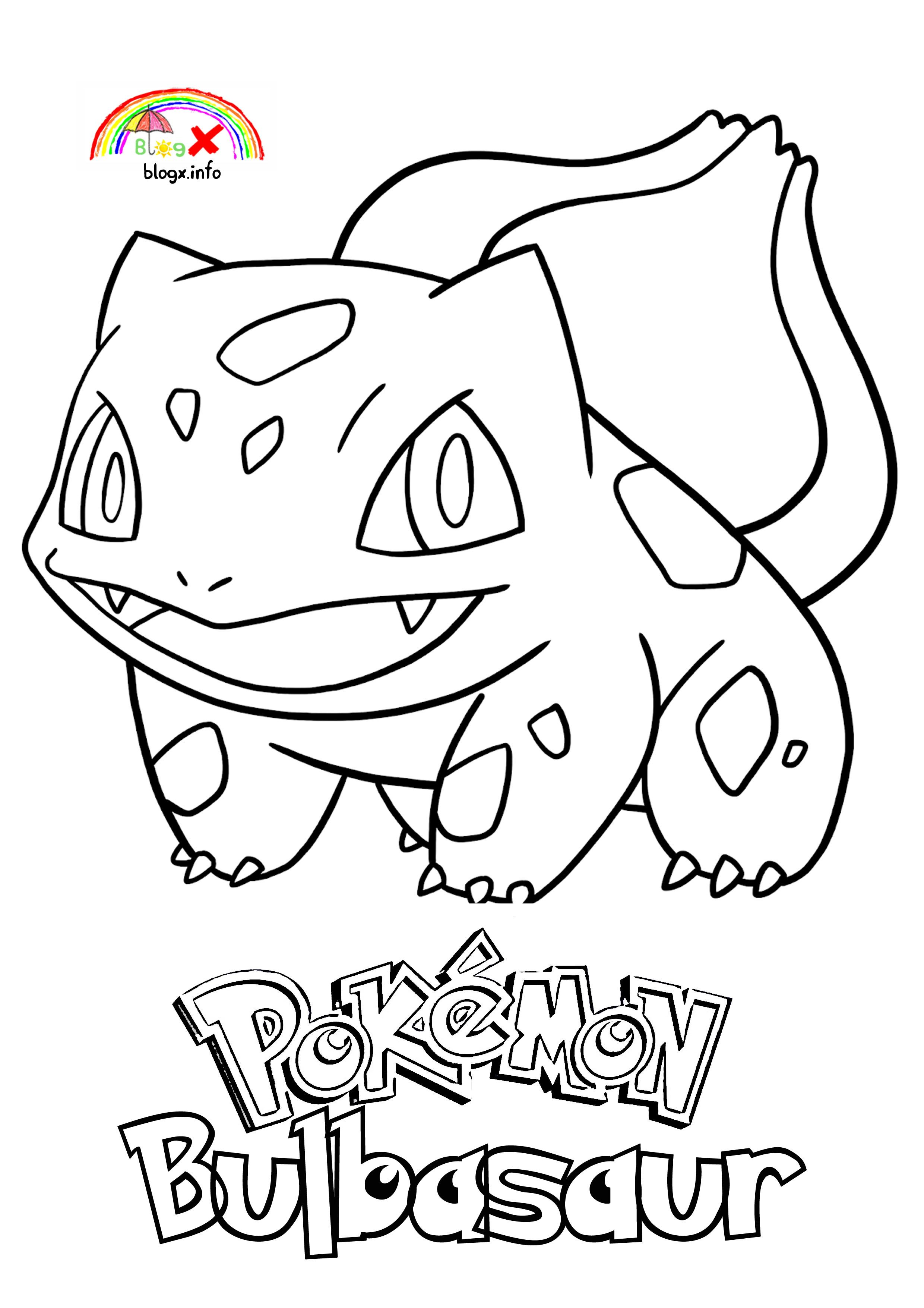 Bulbasaur Coloring Page Blogx Coloring Pages Pokemon Coloring Coloring Pages For Girls