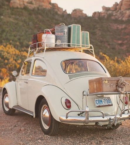 To just get in a beetle and travel the world with no worries.