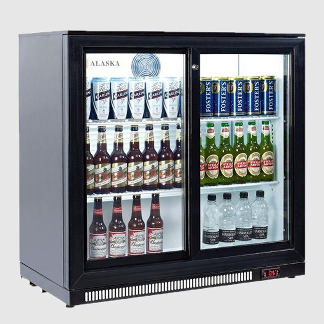 Artikcold Bbc 92s Alaska 2 Sliding Door Back Bar Cooler Beer Pub Beer Fridge Bottle Fridge