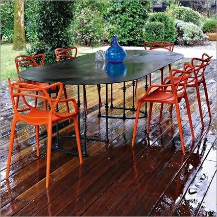 Orange Masters By Philippe Starck Masters Chair Modern Outdoor Dining Kartell Masters Chair