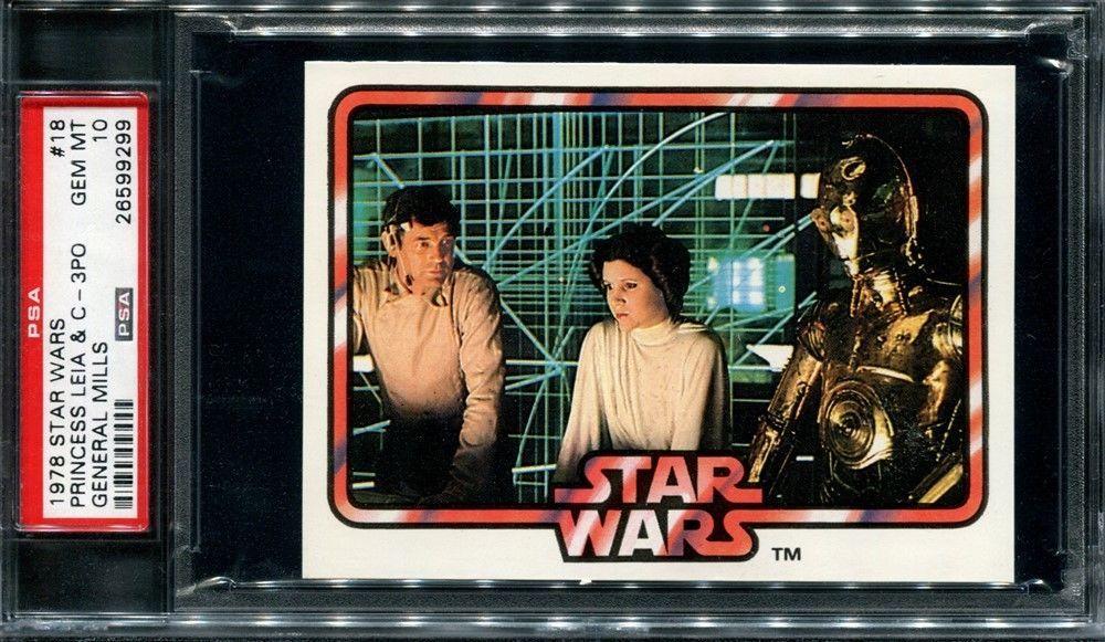Psa 10 1978 star wars general mills 18 pop 4 princess