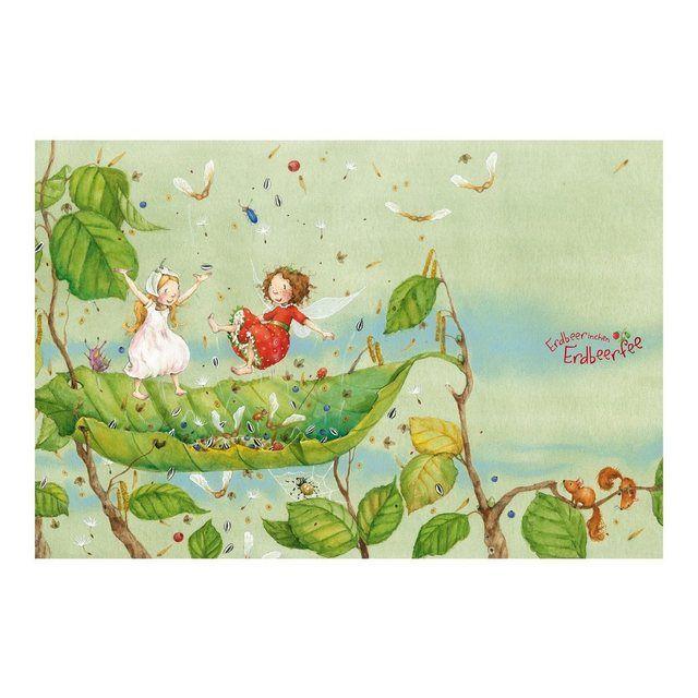 Kinderzimmer Vliestapete Breit »Erdbeerinchen Erdbeerfee