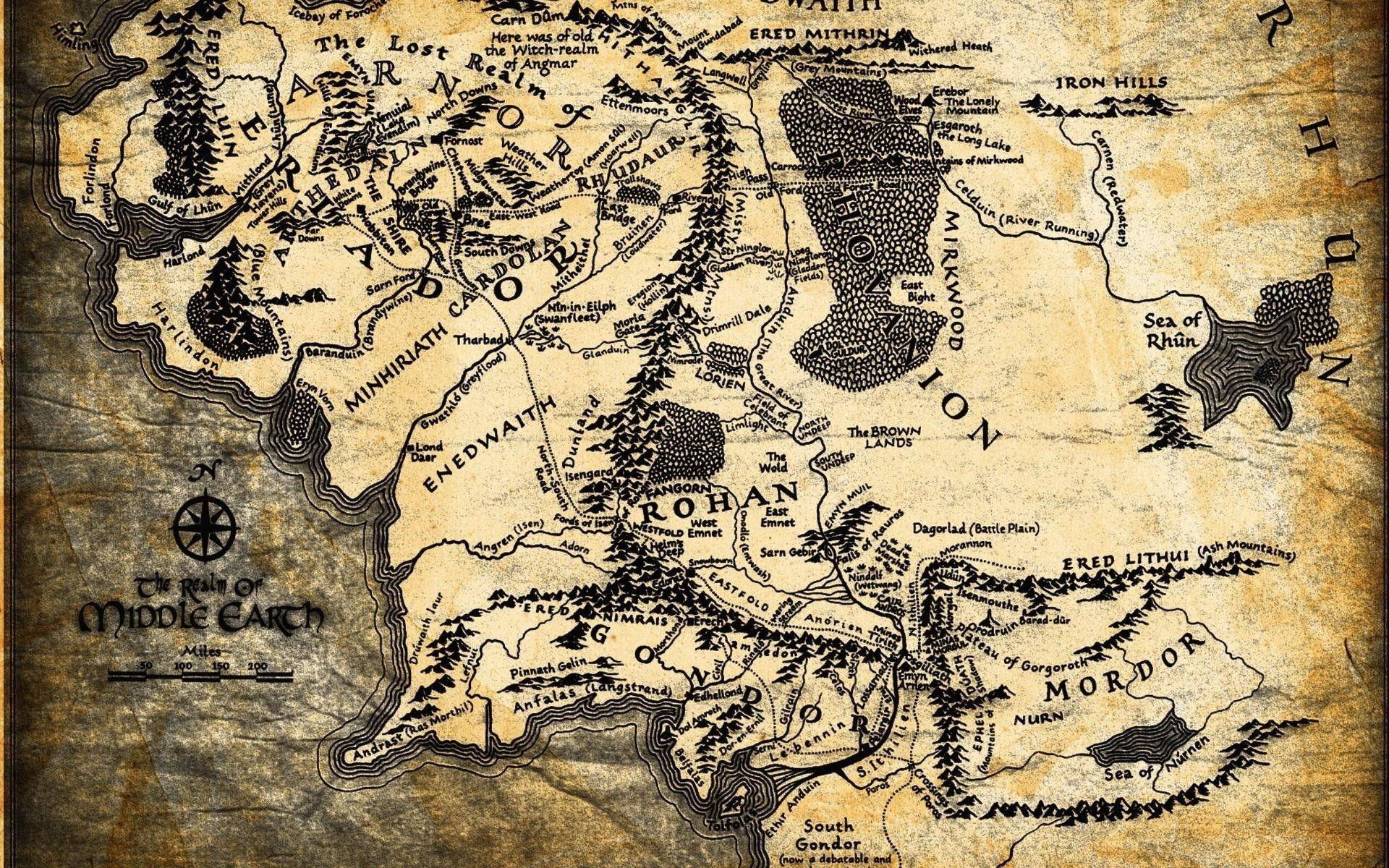 Lord Of The Rings Map Wallpaper Com Imagens Senhor Dos Aneis