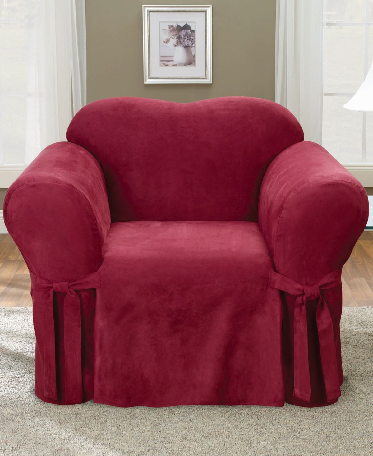 Sure Fit Soft Faux Suede Chair Slipcover Reviews Slipcovers Home Decor Macy S Slipcovers For Chairs Slipcovers Dining Room Chair Covers