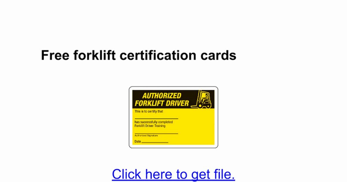 Equipment Operator Certification Card Template Beautiful Forklift License Template Wallet Size Next Forklift Training Certificate Template Training Certificate