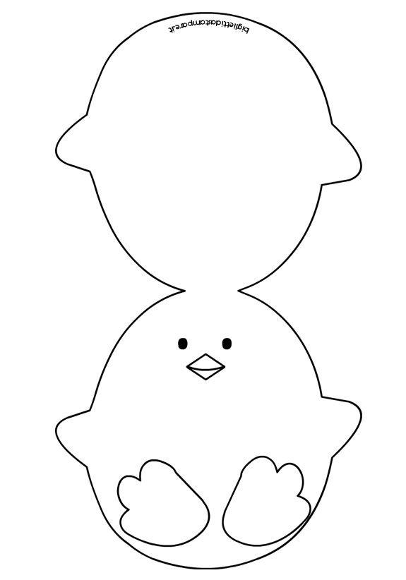 Pasqua - Biglietto a forma di pulcino