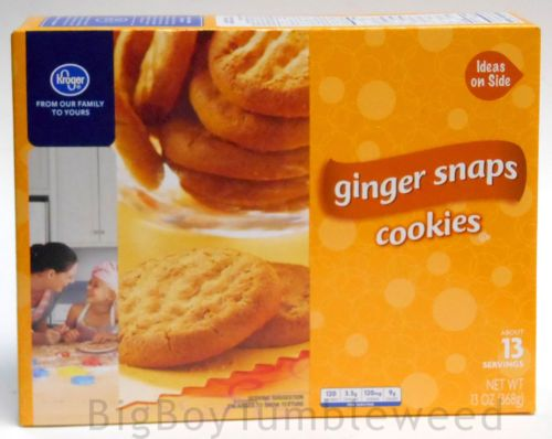 Kroger Ginger Snaps tea Cookies spice dessert 13 oz box snack baking holiday #BigBoyTumbleweed