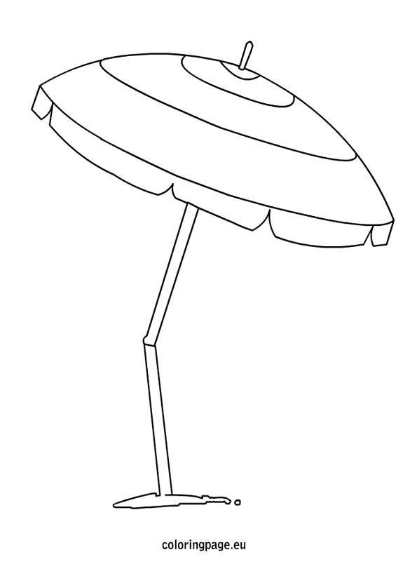 Beach Umbrella Umbrella Coloring Page Beach Umbrella Art