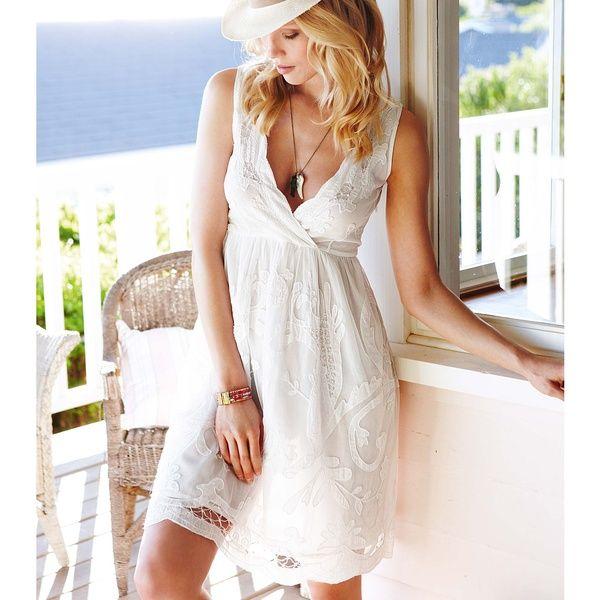 White-Beach-Dress1.jpg (600×600) | So... Fashionist!! | Pinterest ...