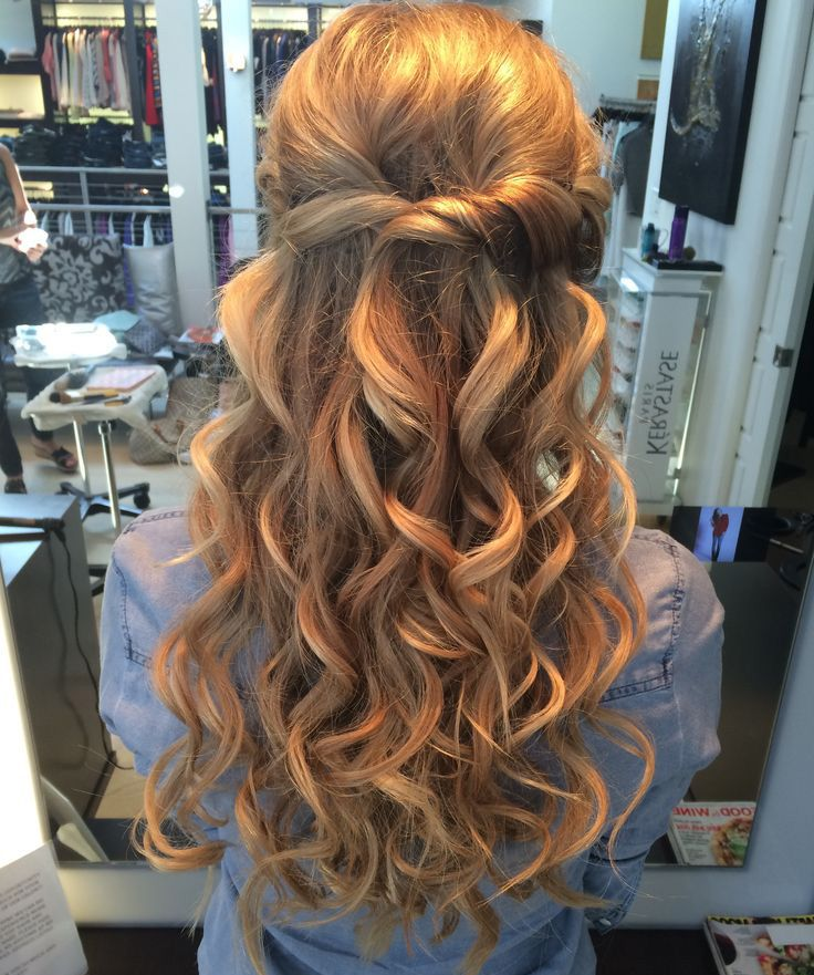 how to do half up half down wedding hairstyles … | Pinteres…