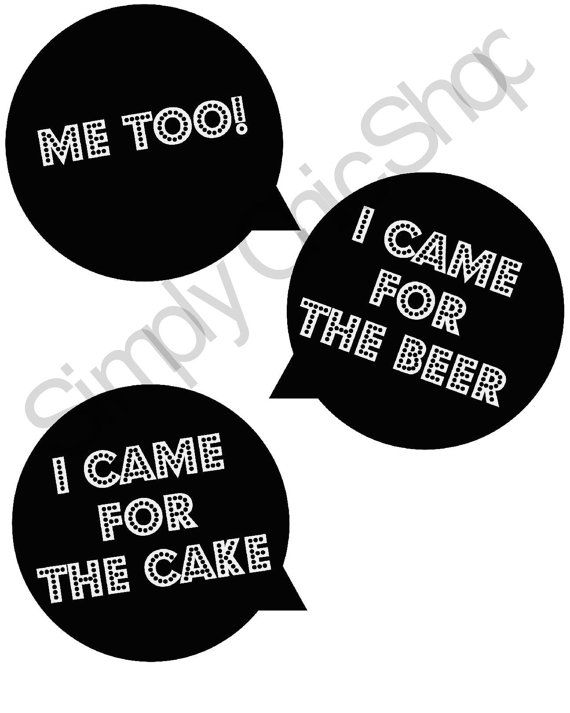 Instant Download Photo Booth Props Sayings I Came For The Beer I