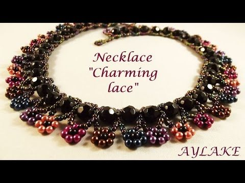 simple beaded necklace charming lace beading tutorials and more pinterest schmuck. Black Bedroom Furniture Sets. Home Design Ideas