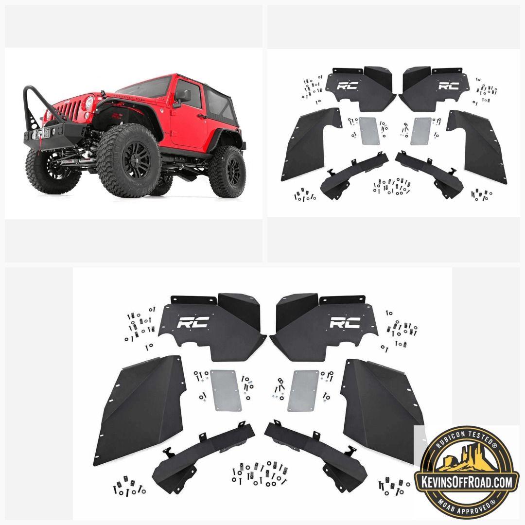 20072018 Jeep Wrangler JK Inner Fenders Front Optional