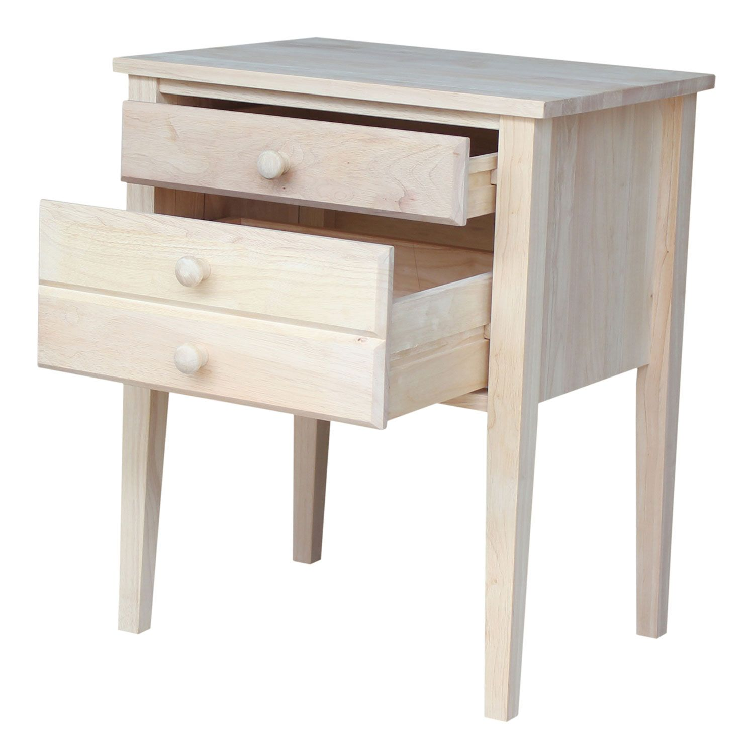 Beautiful Unfinished Accent Table With Drawers Design Ideas