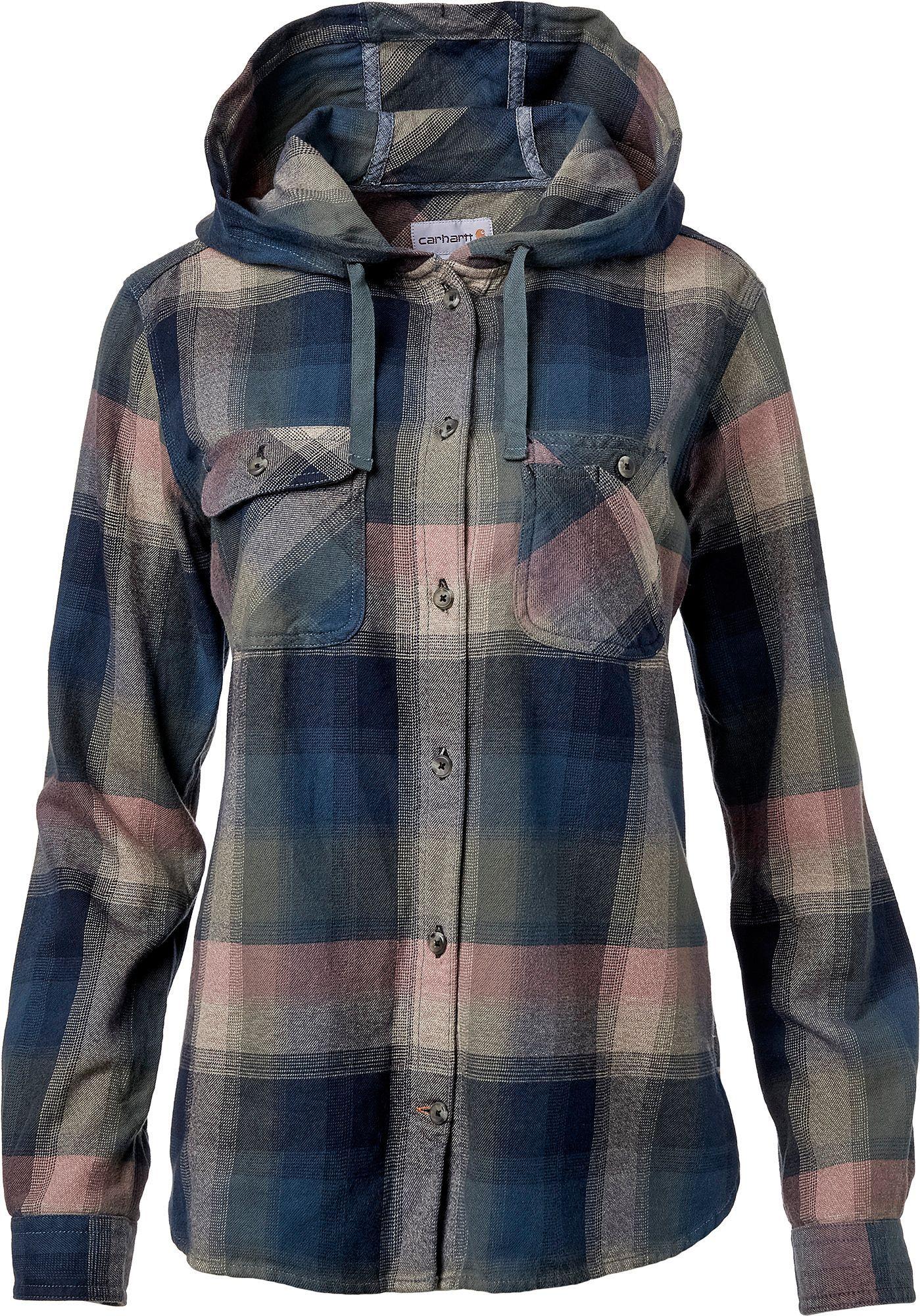 Carhartt Women's Beartooth Hooded Flannel Shirt