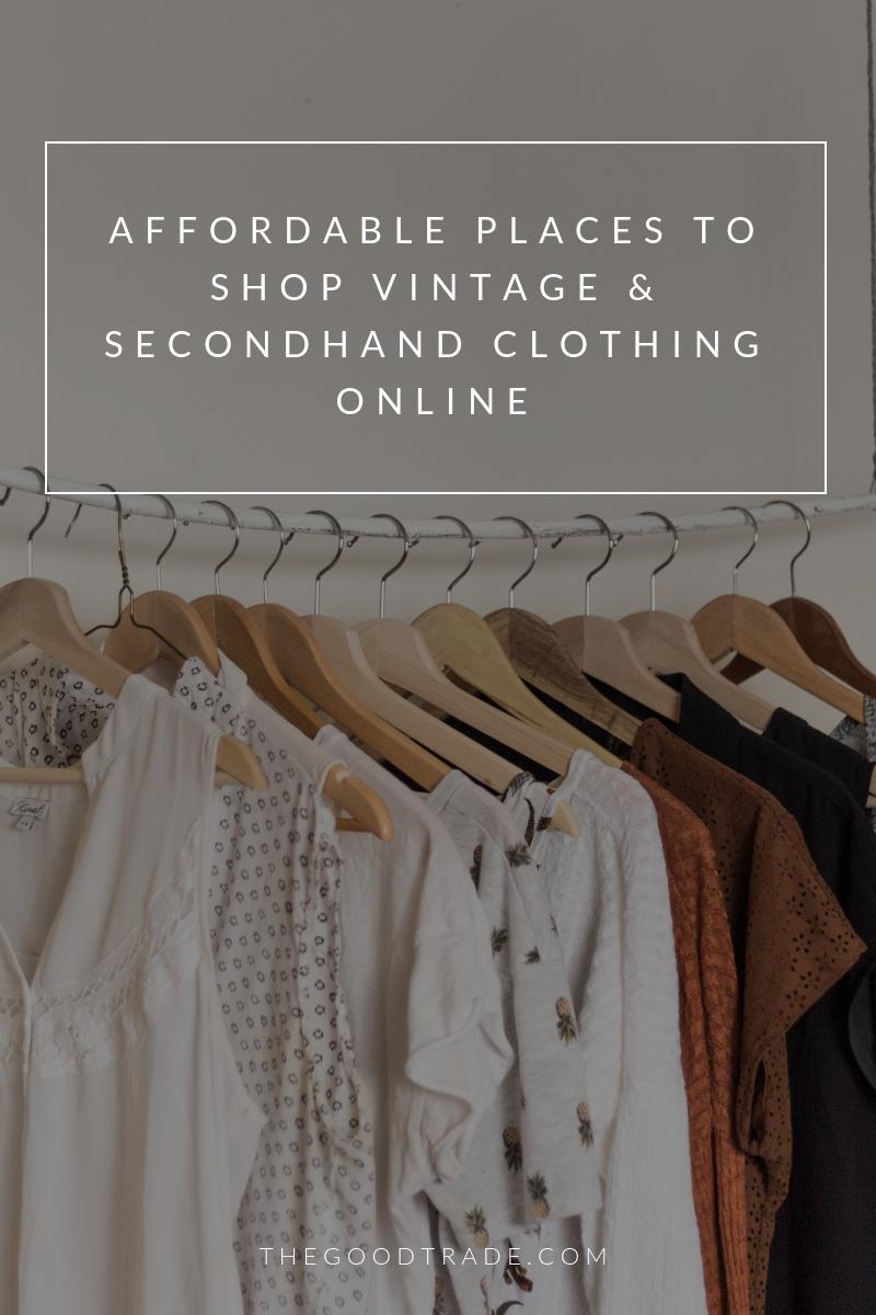 8 Online Thrift Stores For Affordable Vintage Secondhand Clothing Vintage Clothing Online Buy Vintage Clothing Vintage Outfits