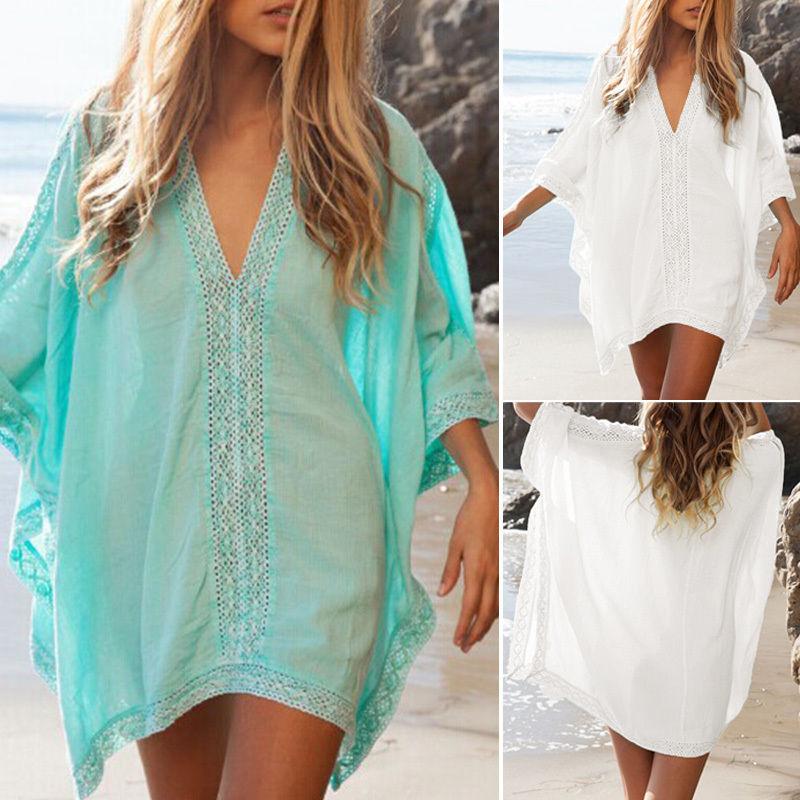 956c42da7e3e8 Lady Swimwear Beachwear Bikini Sun Wear Cover Up Kaftan Summer Shirt Dress  87cm  Unbranded  Bikini