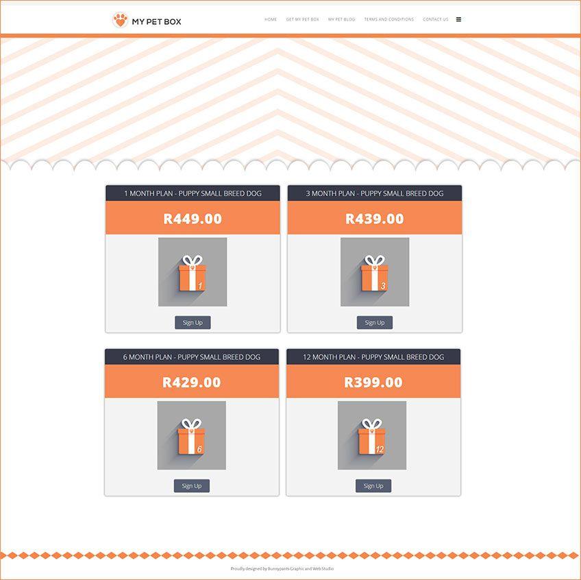 My Pet Box Plan Page | Websites | Portfolio web design, Web