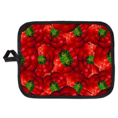 Vegetable pattern composition Potholder  #potholder, #home, #decoration, #design,  #colorful pattern, #vegetable pattern, #food pattern,