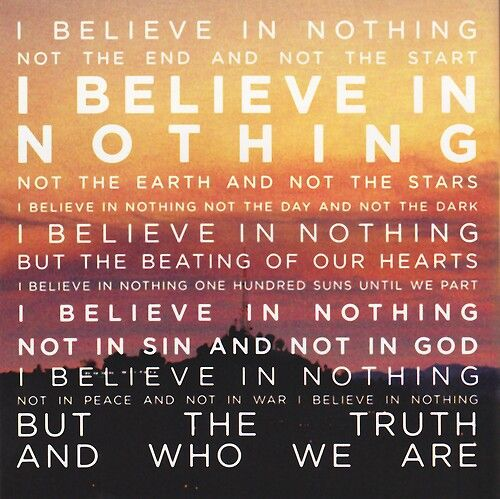 I Believe In Nothing Lyrics From 100 Suns By 30 Seconds To Mars Lyricart Life On Mars Quotes To Live By Words