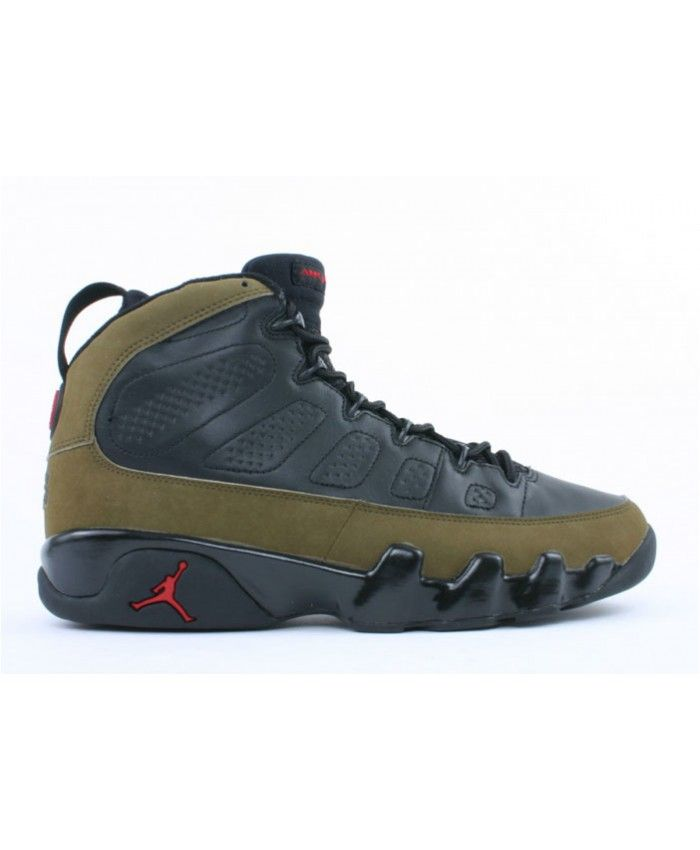 air jordan 9 retro olive black light olive true red 302370 031