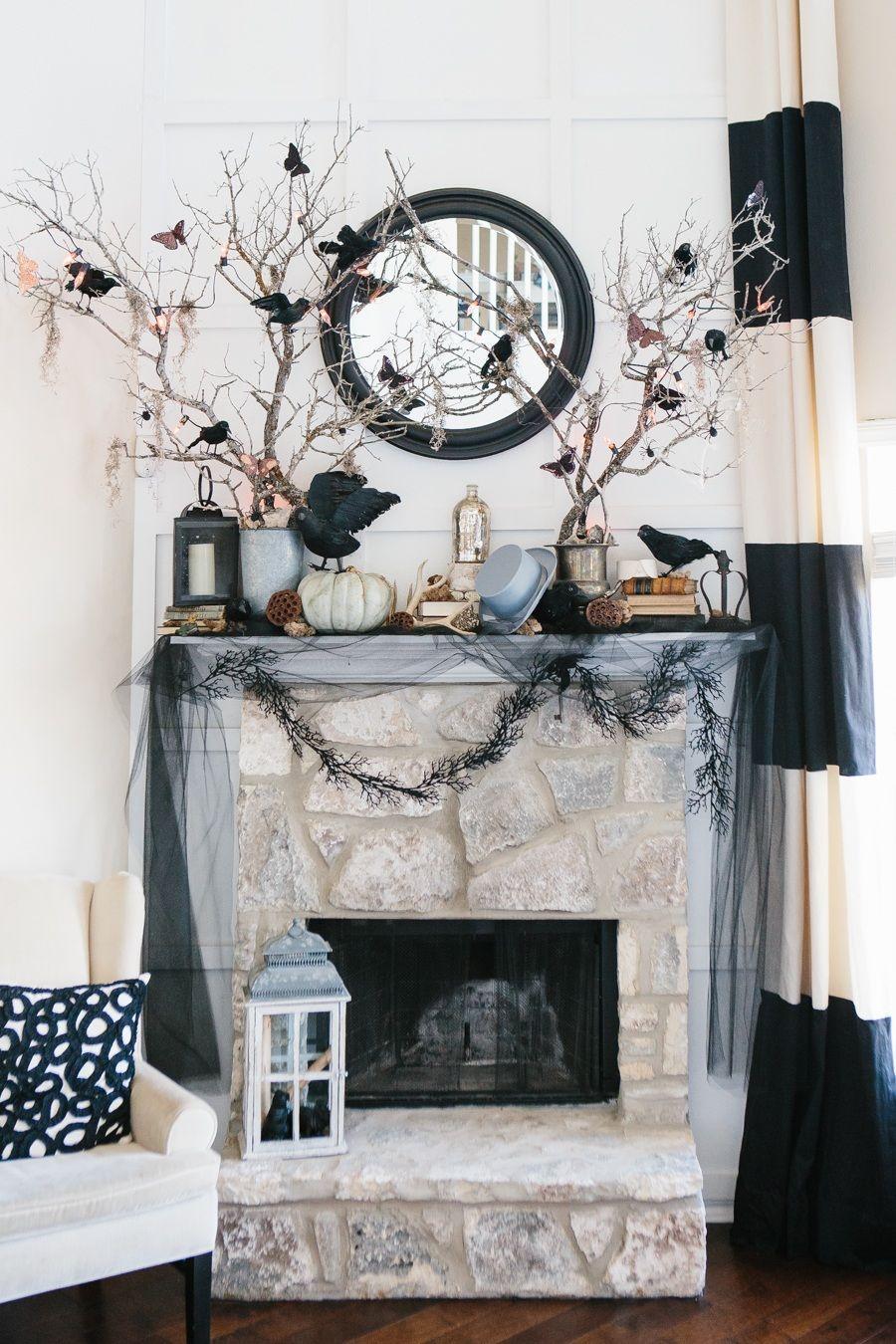 20 Creative Halloween Decorating Ideas Classy Halloween Decor Halloween Decorations Indoor Halloween Living Room