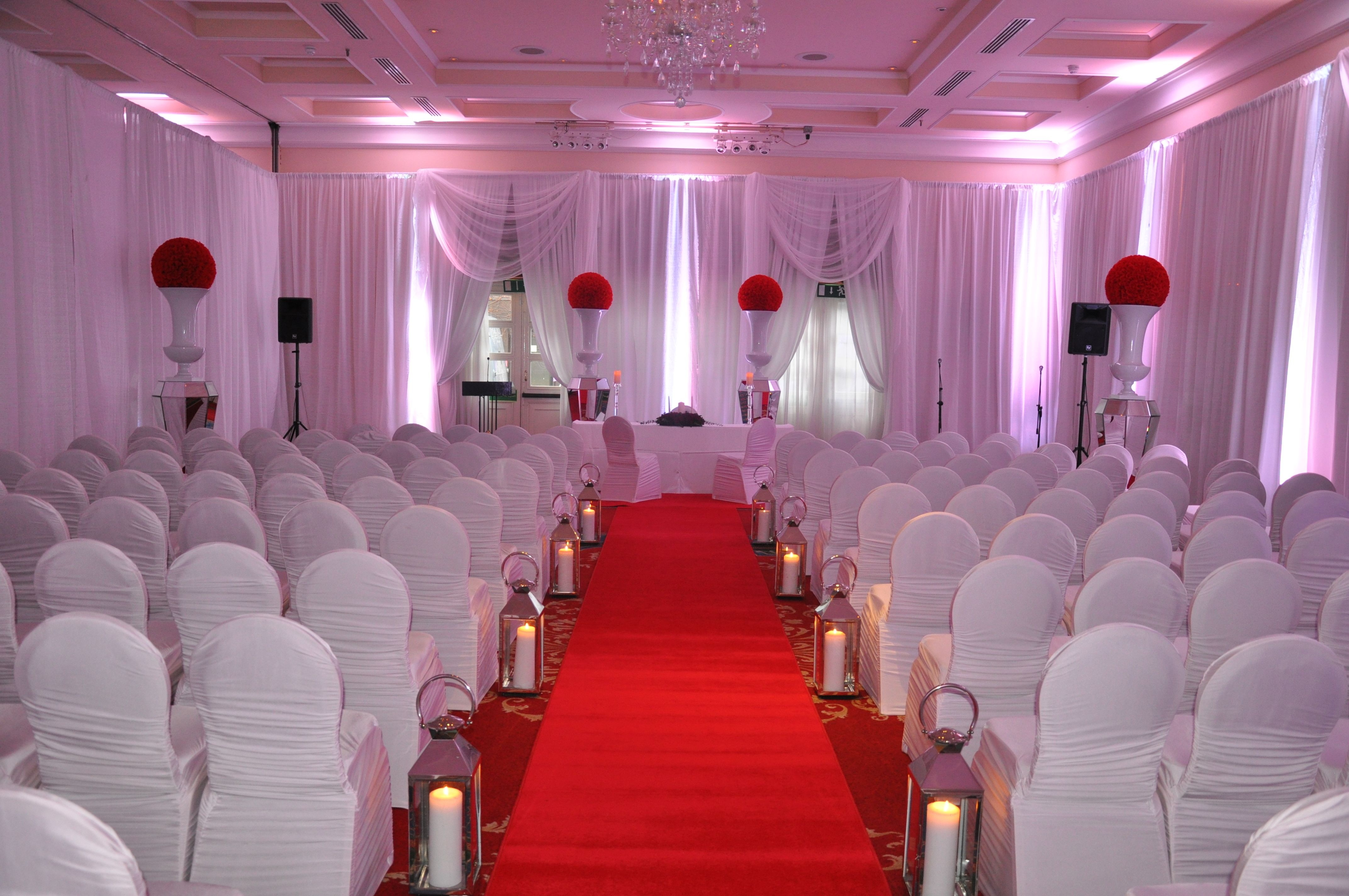 Civil Wedding Decoration Ideas: A Civil Partnership Ceremony In The Clyde Court. For More