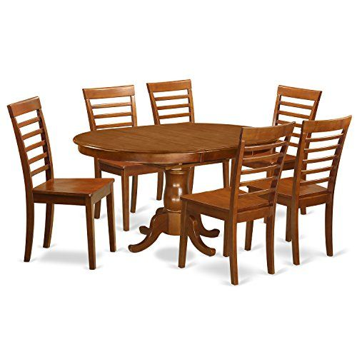 East West Furniture Poml7Sbrw 7Piece Dining Table Set$76192 Fair Cheap Dining Room Tables Design Inspiration