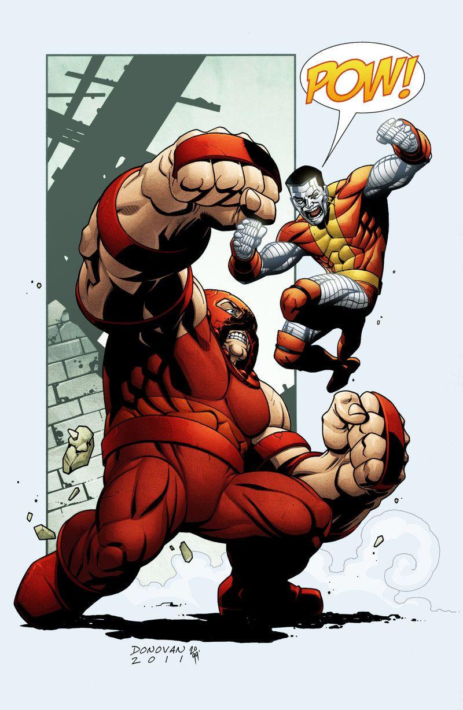 juggernaut vs colossus by derec donovan marvel